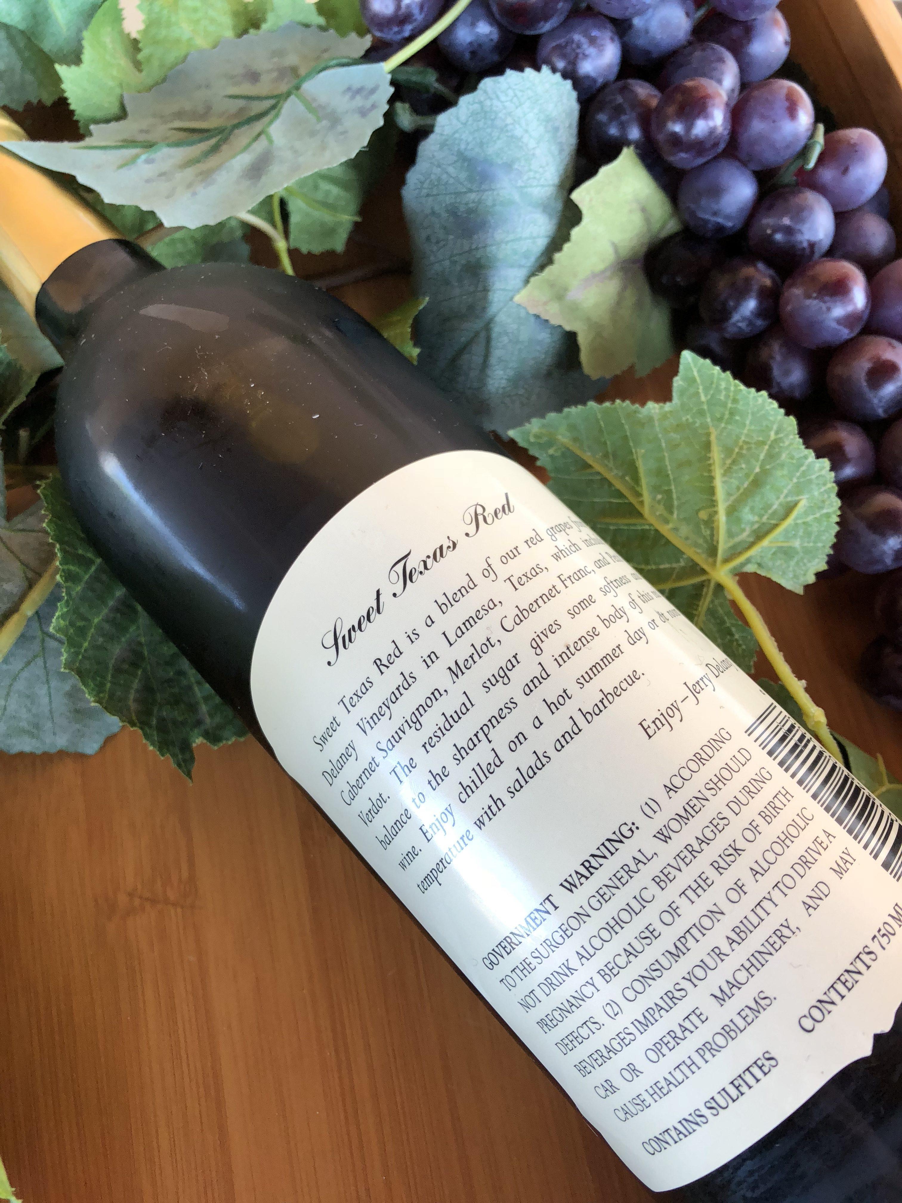 Sweet Texas Red Delaney Vineyards